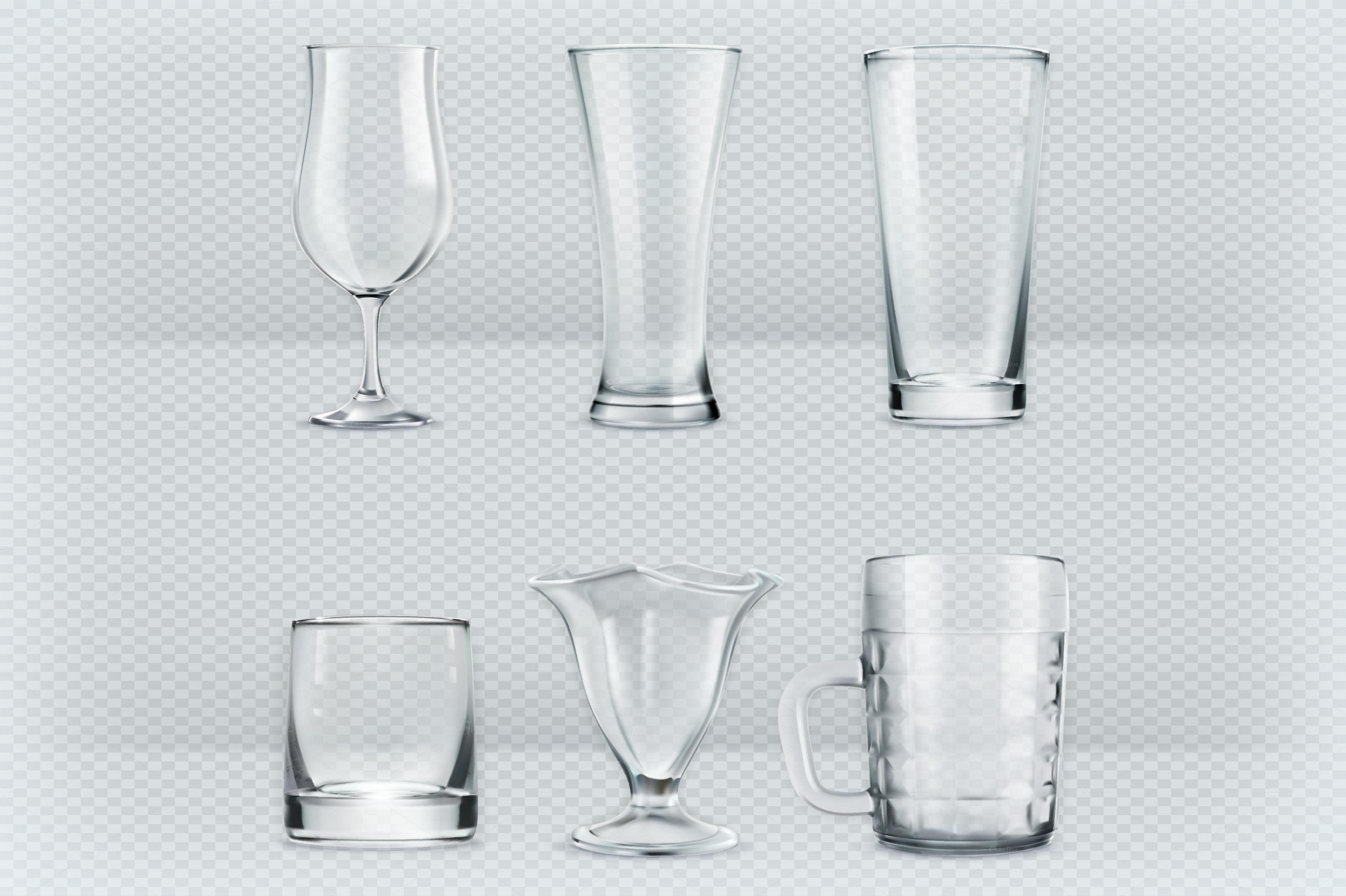 Transparent glasses goblets ~ Icons on Creative Market