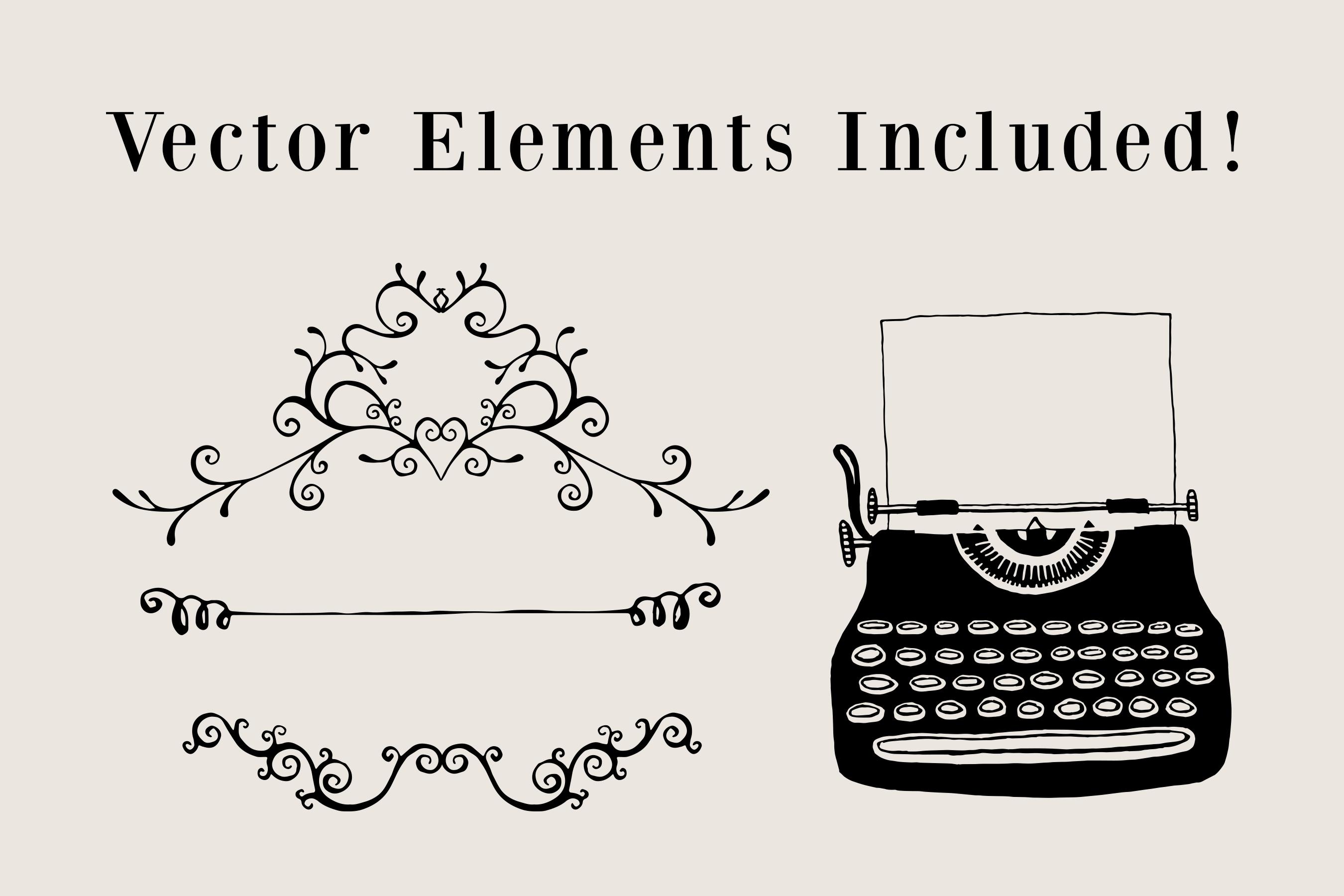 Vintage Typewriter Wedding Suite ~ Invitation Templates on