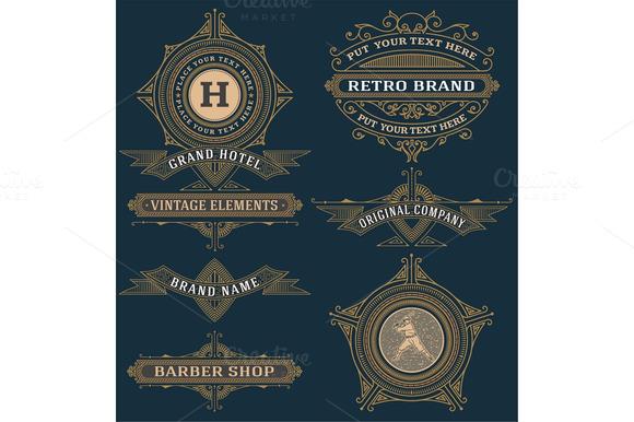 Set of design elements. Vector. - Illustrations