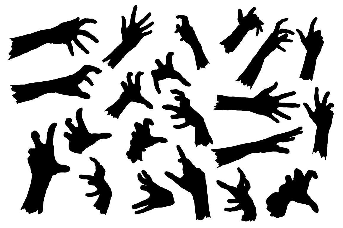Zombie Hand Silhouette Set ~ Illustrations on Creative Market