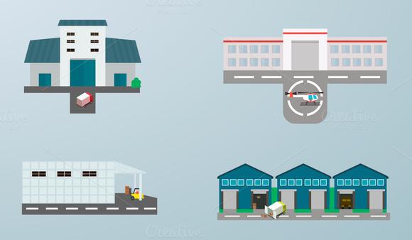 buildings. vector - Illustrations