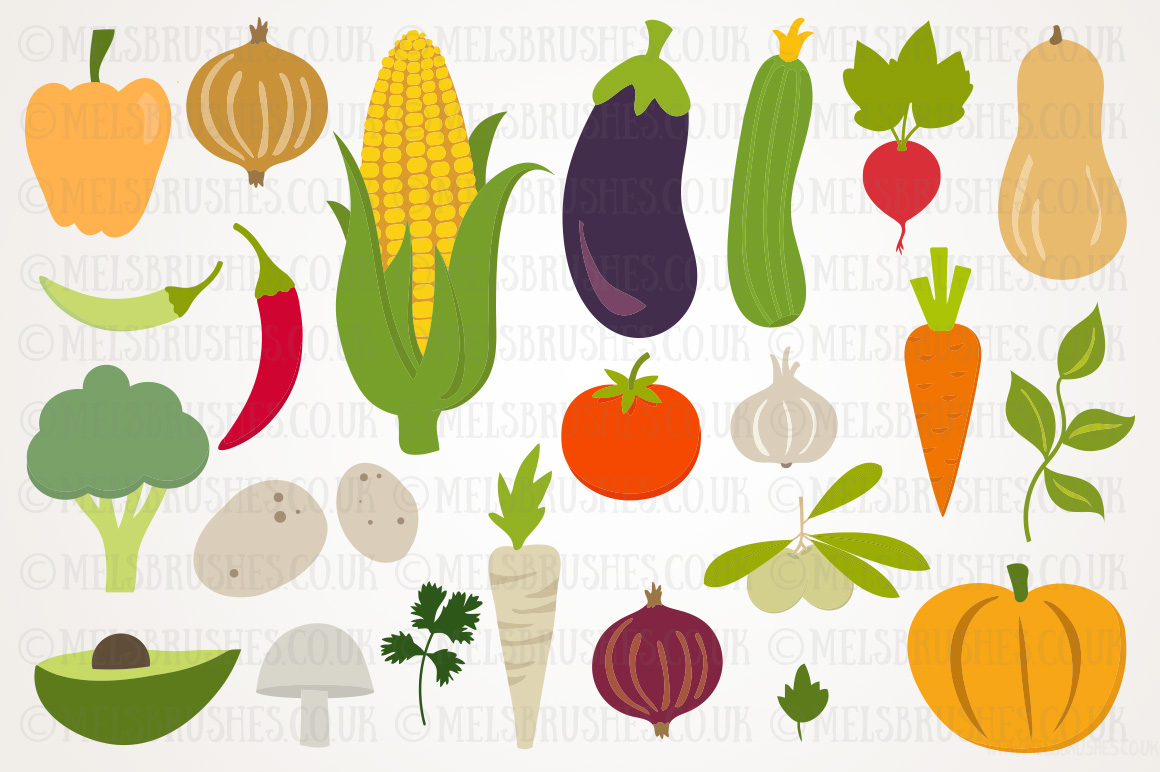 Harvest vegetables illustrations on creative market for Graphics clipart