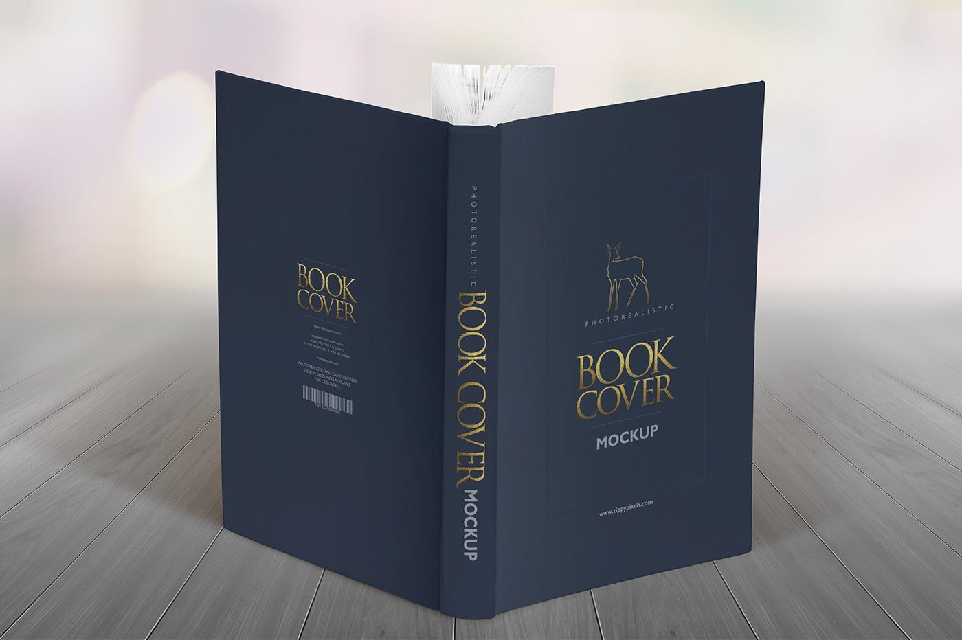 Book Cover Design Mockup : Elegant hardcover book mockups vol product on