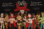 Party happy halloween, vect-Graphicriver中文最全的素材分享平台