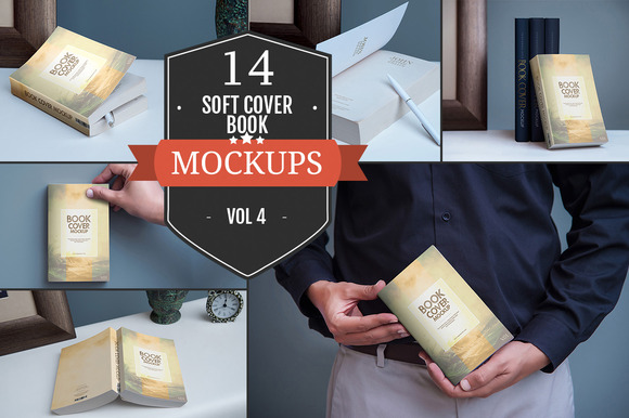 Softcover Book Mockups Vol. 4 - Product Mockups