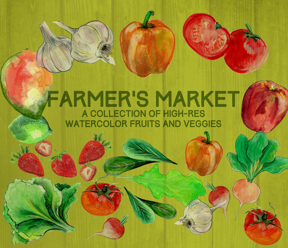 Farmer's Market Watercolors