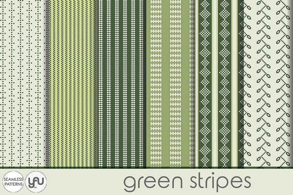 Green Digital Paper STRIPES