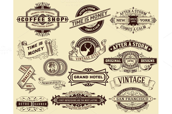 15 Labels And Banners