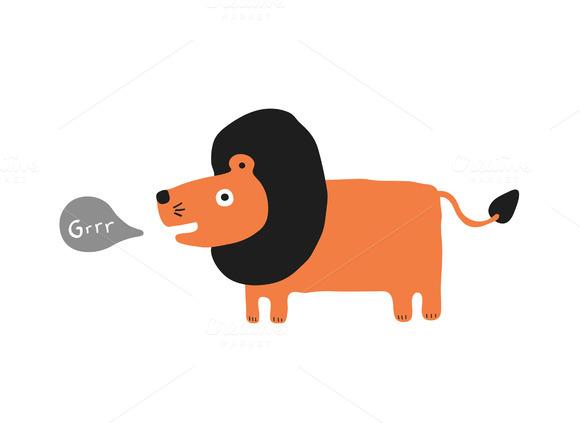 Lion Roaring Cartoon