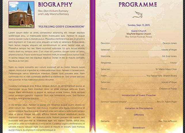 Clergy Anniversary Service Program ~ Brochure Templates on ...