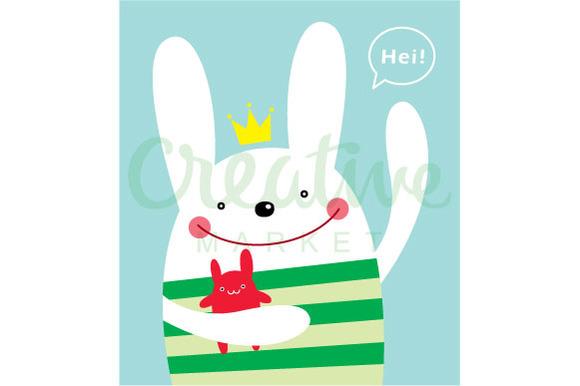 Cute Prince Bunny Vector
