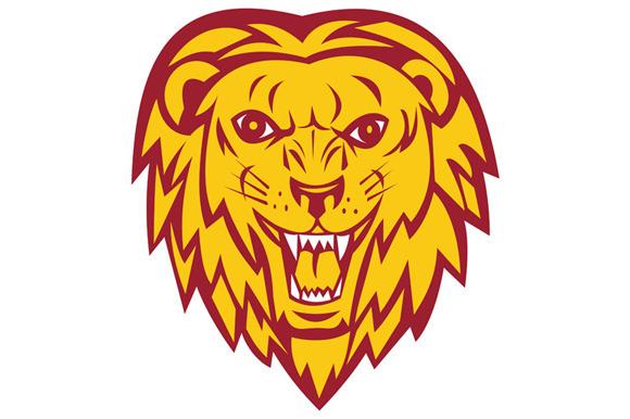 Angry Lion Big Cat Head Roar