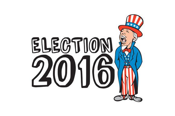 Election 2016 Uncle Sam Shouting Ret