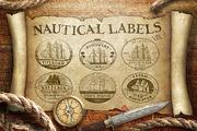 Nautical Labels vol. 1-Graphicriver中文最全的素材分享平台