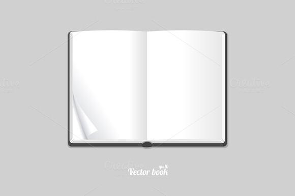 Blank White Opened Book Or Magazine