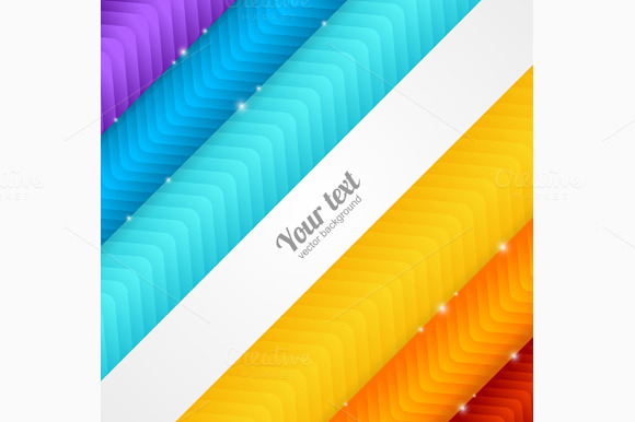Colorful Arrow Background. Vector - Illustrations