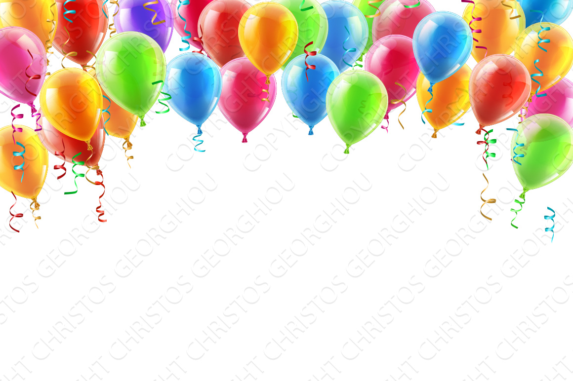 Balloons header background ~ Illustrations on Creative Market