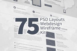 75 Layouts Webdesign Wireframe Kit