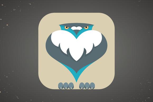 Icon Of Cute Cartoon Pigeon