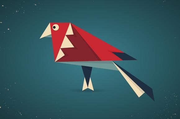 Colourful Origami Bird