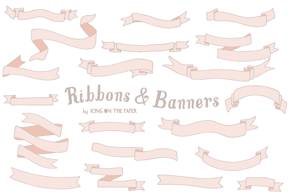 20 Vector Ribbons Banners
