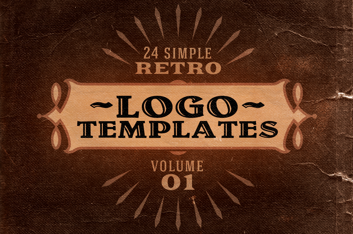 simple retro logo templates v 1 logo templates on creative market. Black Bedroom Furniture Sets. Home Design Ideas