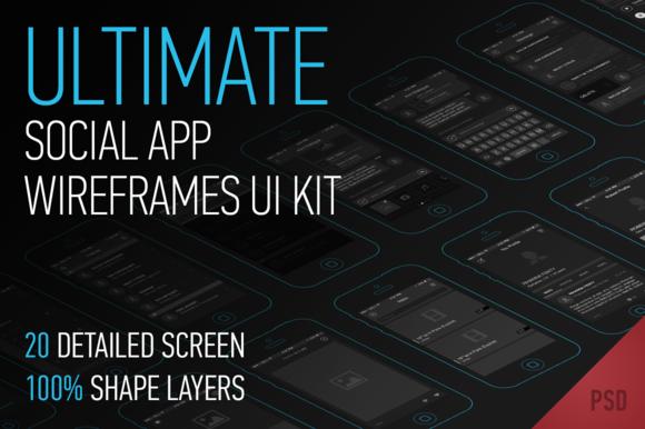 Ultimate App Wireframes Ui Kit