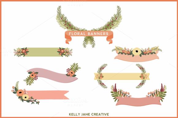 Peaches-n-Cream Floral Banners