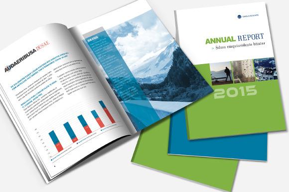 annual report brochure template brochure templates on creative market. Black Bedroom Furniture Sets. Home Design Ideas
