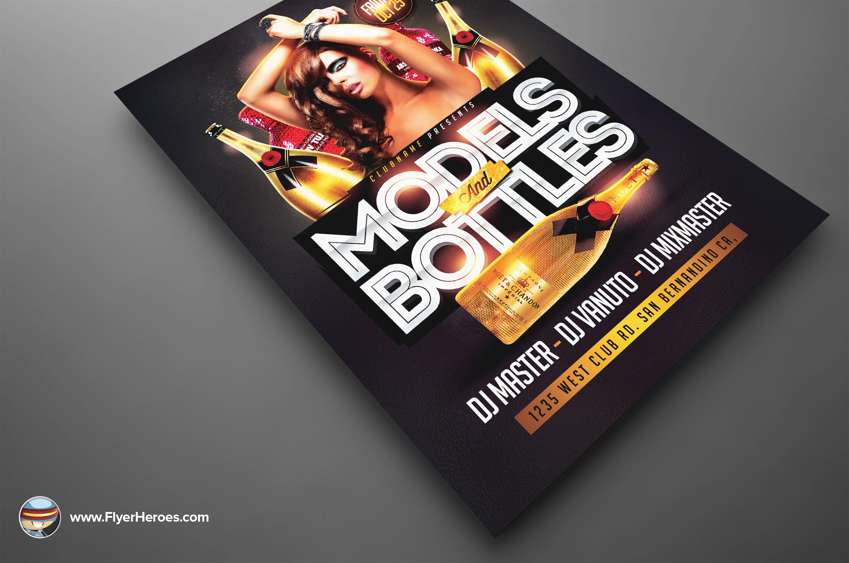 Models And Bottles Flyer Models And Bottles Flyer