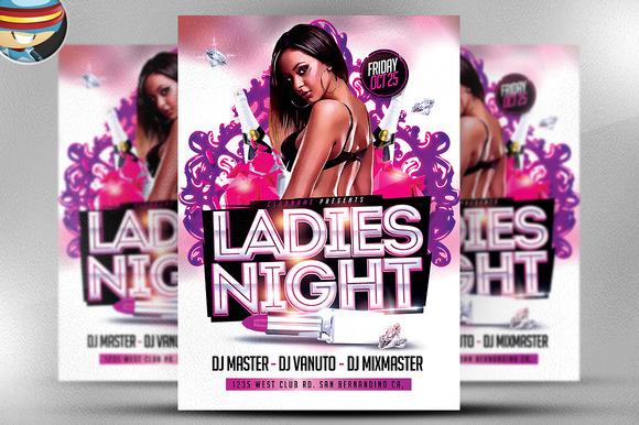 Ladies Night Flyer Template 3