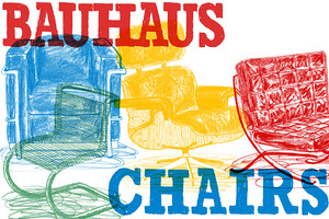Hand Drawn - Bitmap Bauhaus Chairs!