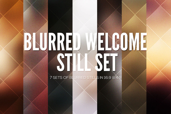 Blurred Service Screens Set