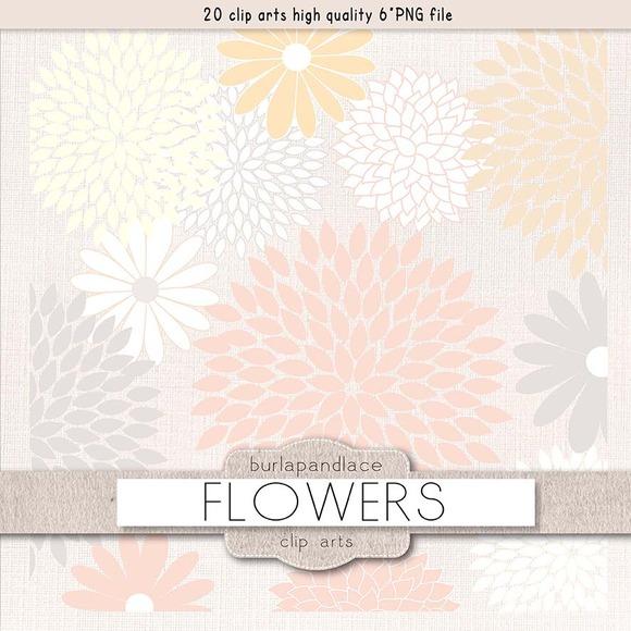 Flowers Clipart Pastel Colours