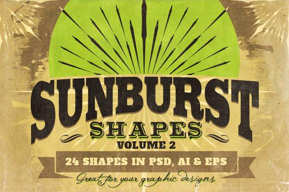 Sunbursts Shapes Vol.2