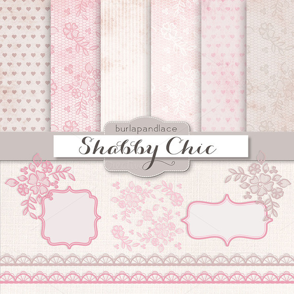 Shabby Chic Pink Pale