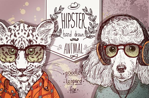 Hipster Animals Set 1