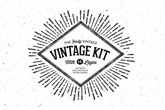 Very Vintage Vector Kit 14 Logos