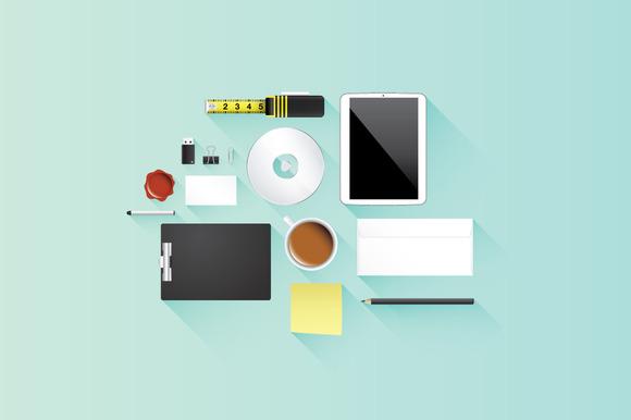 Flat Office Icon Vector Set