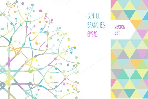 Floral Vector Set Of 18 Templates
