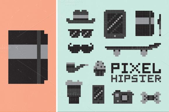Pixel Hipster Set
