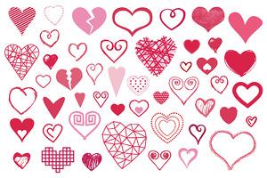 48 Vector Heart Shapes