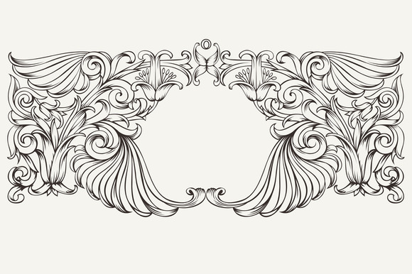 High Ornate Horizontal Frame