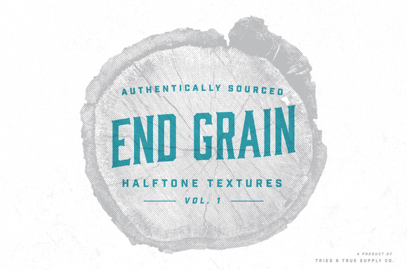 Halftone End Grain Textures Vol 1