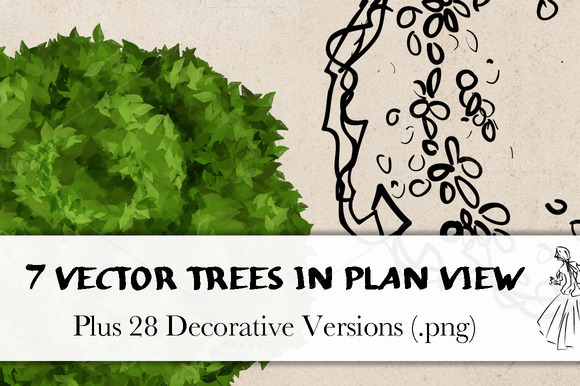 Tree Plan Vector Trees in Plan View