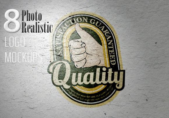 8 Photo Realistic Logo Mock-Ups