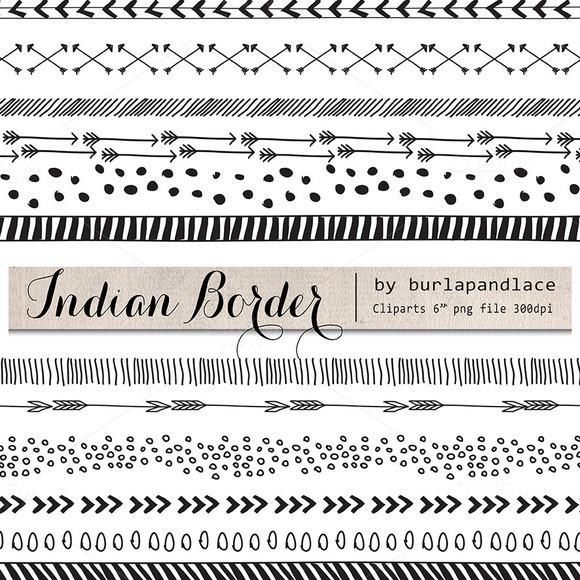 Hand Drawn Clipart Indian Border