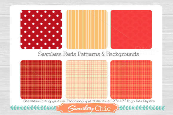Seamless Red Backgrounds