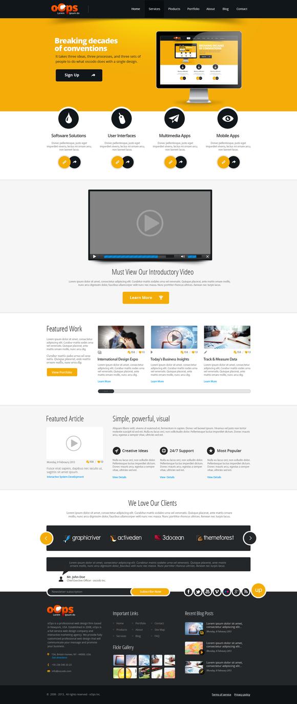 Multi-purpose PSD Website Template