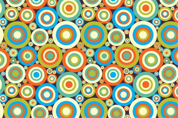 Seamless Pattern Colorful Circles